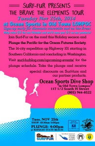 Ocean Sports-Lompoc-Dive Shop-Fundraiser-for-Cousteau's-Ocean Future's Society-Nov 25th-2014